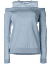 Dorothee Schumacher - Panelled Cold-shoulder Sweater - Lyst