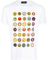 DSquared² - Badge Print T-shirt - Lyst