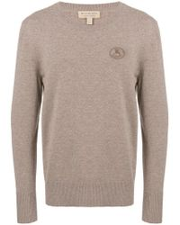 Burberry - Embroidered Archive Logo Cashmere Jumper - Lyst