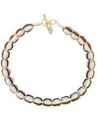 Diane von Furstenberg - Striped Beaded Necklace - Lyst