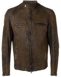 Salvatore Santoro - Distressed Leather Jacket - Lyst