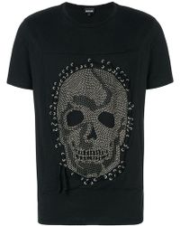 Just Cavalli - Studded Skull T-shirt - Lyst