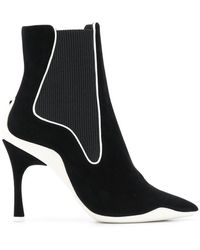 Rene Caovilla - Ribbed Side Ankle Boots - Lyst