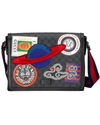 199f785dbdd Gg Supreme Night Courrier Pouch NeroMulticolor Gucci Men