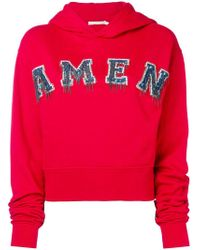 Amen - Embellished Logo Hoodie - Lyst