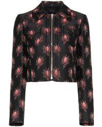 Giambattista Valli - Floral Print Cropped Jacket - Lyst