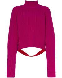 Borgo De Nor Edamame London Cutout Contrast Detail Knitted Jumper