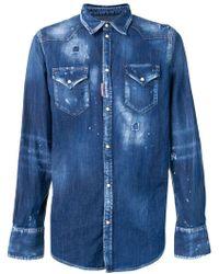 DSquared² - Camisa vaquera con efecto envejecido - Lyst