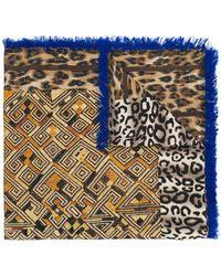 Pierre Louis Mascia - Leopard Print Scarf - Lyst