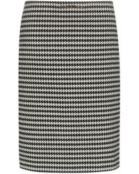 Balenciaga - Houndstooth Wool-blend Pencil Skirt - Lyst