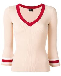 Elisabetta Franchi - Colour-block Fitted Sweater - Lyst