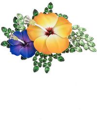 DSquared² - Enamel Hibiscus Brooch - Lyst