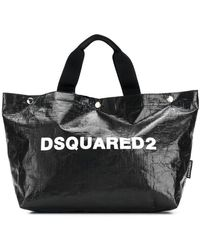 DSquared² - Logo Printed Tote Bag Small - Lyst