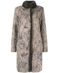 Manzoni 24 - Floral Embroidered Coat - Lyst