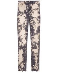 Gucci - Embroidery Stretch Tight Jeans - Lyst
