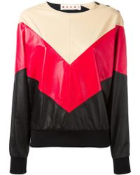 Marni - Chevron Pattern Sweatshirt - Lyst