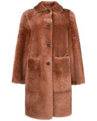 DESA NINETEENSEVENTYTWO - Shearling Oversized Coat - Lyst