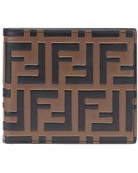 Fendi - Ff Logo Bi-fold Wallet - Lyst