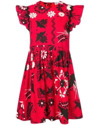 RED Valentino - Terrace Printed Mini Dress - Lyst
