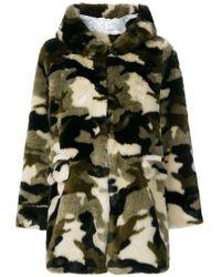 Shrimps - Camouflage Faux Fur Coat - Lyst