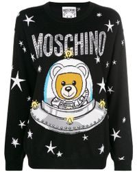 Moschino - Space Teddy-print Jumper - Lyst
