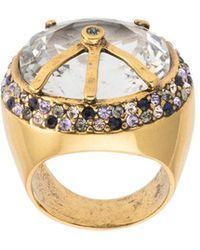 Camila Klein - Bombé Crystal Embellished Ring - Lyst