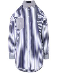 Rossella Jardini - Striped Cold Shoulder Shirt - Lyst
