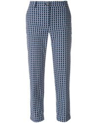 PS by Paul Smith - Cropped Printed Trousers - Lyst