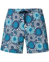 Paolo Pecora - Abstract Print Swim Shorts - Lyst