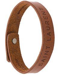 Saint Laurent   Engraved Bracelet   Lyst