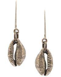 Ann Demeulemeester - Shell Drop Earrings - Lyst
