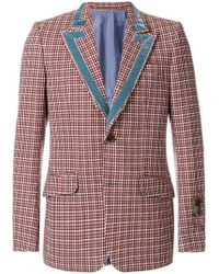 Gucci - Heritage Houndstooth Wool Jacket - Lyst