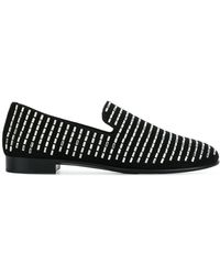 Giuseppe Zanotti - Swarovski Studded Loafers - Lyst