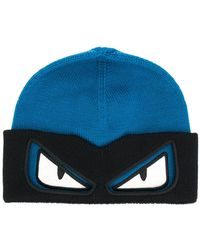 Fendi - Bag Bugs Beanie Hat - Lyst