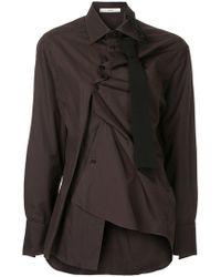 Aganovich - Asymmetric Fitted Shirt - Lyst