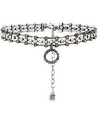 DANNIJO - Vixie Choker With Crystal Circle Pendant - Lyst