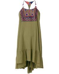 Anjuna - Embroidered Bib Dress - Lyst