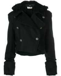 Saint Laurent   Elongated Sleeve Cropped Jacket   Lyst