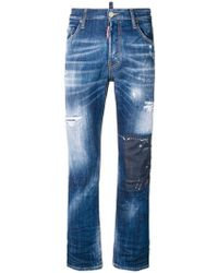 DSquared² - Cropped Flare Jeans - Lyst