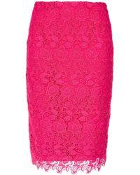 Martha Medeiros - Lace Pencil Skirt - Lyst