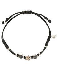 Pippo Perez - 18kt White Gold And Diamond 3 Turtles Bracelet - Lyst
