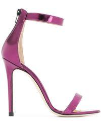 Marc Ellis - Metallic Ankle Strap Sandals - Lyst