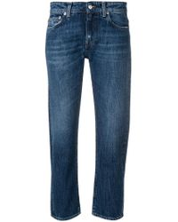 Department 5 - Cropped Straight Jeans - Lyst