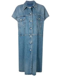 MM6 by Maison Martin Margiela - Short Sleeved Denim Coat - Lyst