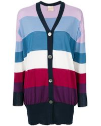 Erika Cavallini Semi Couture - Striped Cardigan - Lyst