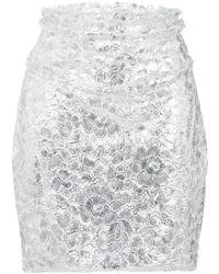 Carmen March - Textured Skirt - Lyst