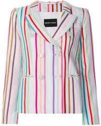 Emporio Armani - Striped Blazer - Lyst