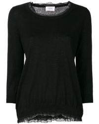 Snobby Sheep - Lace Detail Blouse - Lyst