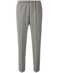 Alberto Biani - Check Print Tapered Trousers - Lyst