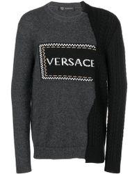 e63c426dad1 ... Fine Animal Hair- lambs Wool.  880. Farfetch · Versace - Asymmetric  Logo Jumper - Lyst